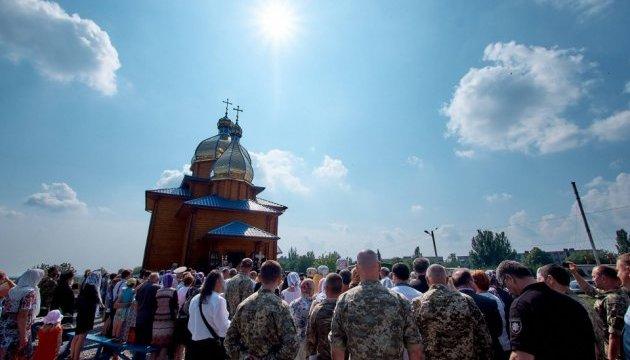 В память о погибших бойцах открыли храм в Волновахе