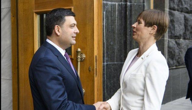 Гройсман: Мы заинтересованы в привлечении эстонских инвестиций в украинский бизнес