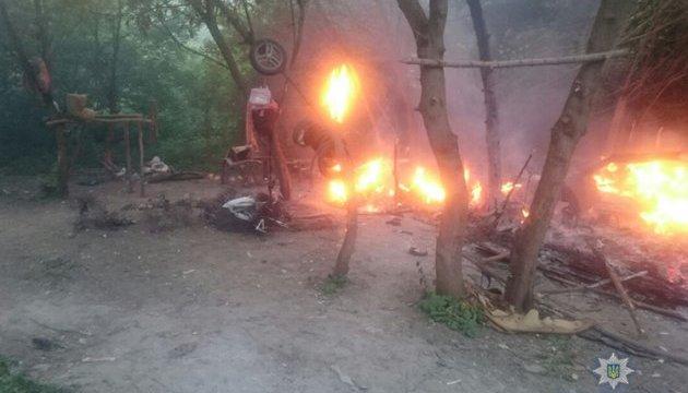 У Денісової повідомили, як розслідують підпал табору ромів на Тернопільщині