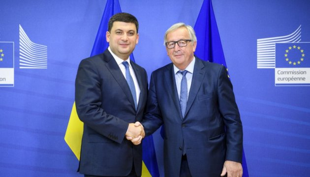 Groysman, Junker discuss anti-Russian sanctions, Nord Stream 2 project