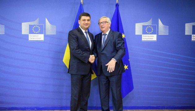 Hroïsman et Junker discutent des sanctions anti-russes et de Nord Stream 2