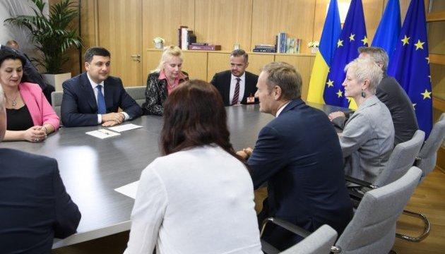 Гройсман розповів Туску про амбітний план українських реформ