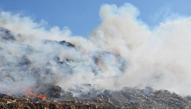 Пожар на свалке под Николаевом охватил полторы тысячи квадратов