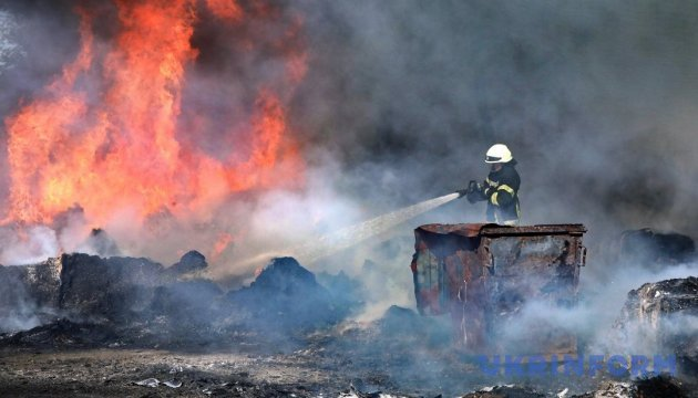 Под Киевом ликвидировали масштабный пожар