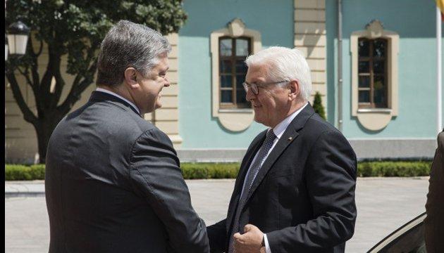 Poroshenko meets German President Steinmeier