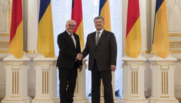 Poroshenko se reúne con el presidente alemán Steinmeier (Fotos, Vídeo)