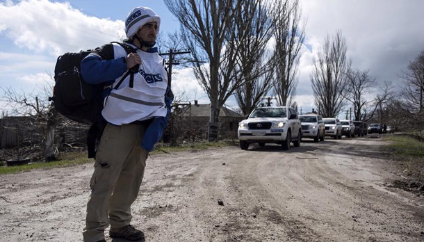 OSCE spots tanks of invaders at former Luhansk airport
