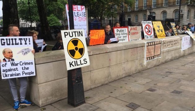 Action in support of Ukrainian political prisoners held in London. Photos, Video