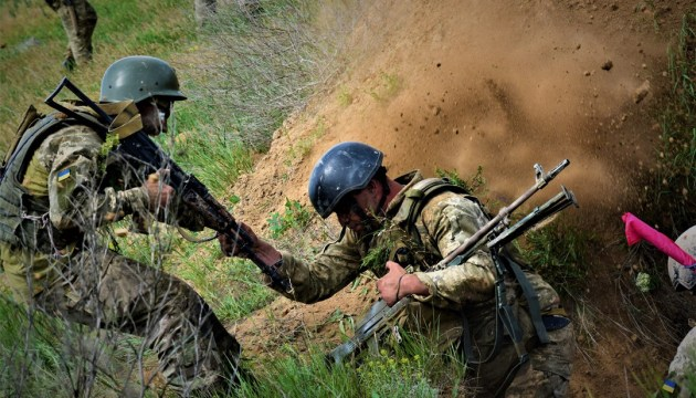 One Ukrainian soldier wounded near Krymske in Donbas