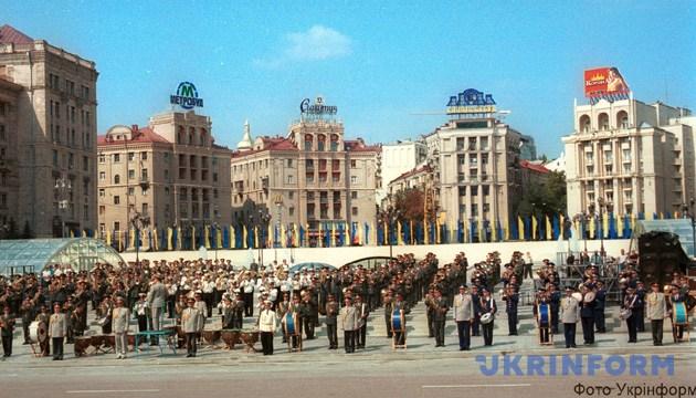 На фото: під час урочистостей святкування 10-ї річниці Незалежності України. Фото Укрінформу