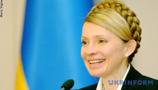 На фото: Прем'єр-міністр Юлія Тимошенко відповідає на запитання журналістів. -Зйомка 8 лютого 2005 року,Київ. Фото Укрінформ.