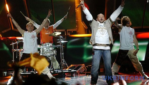 На сцені - гурт «Гринджоли» (на фото). - Зйомка 20 травня 2005 року. Київ. Фото Укрінформ.