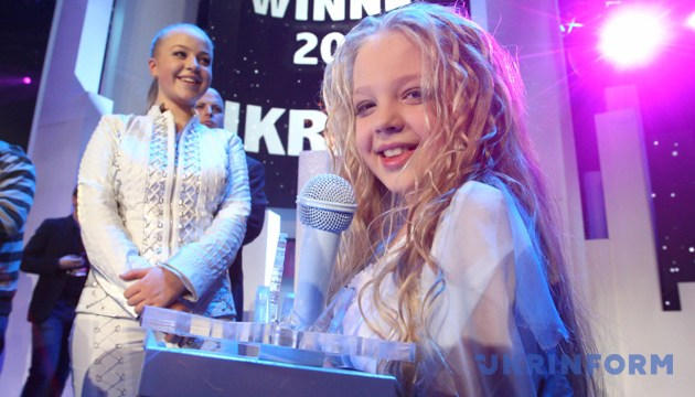 Анастасія Петрик під час фіналу дитячого «Євробачення-2012». Амстердам, 2 грудня 2012 року. Фото: Укрінформ