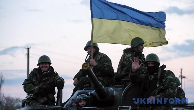 Військовослужбовці 25-ї окремої повітрянодесантної бригади ВДВ ВС України під Слов'янськом у Донецькій області, 14 квітня 2014 року