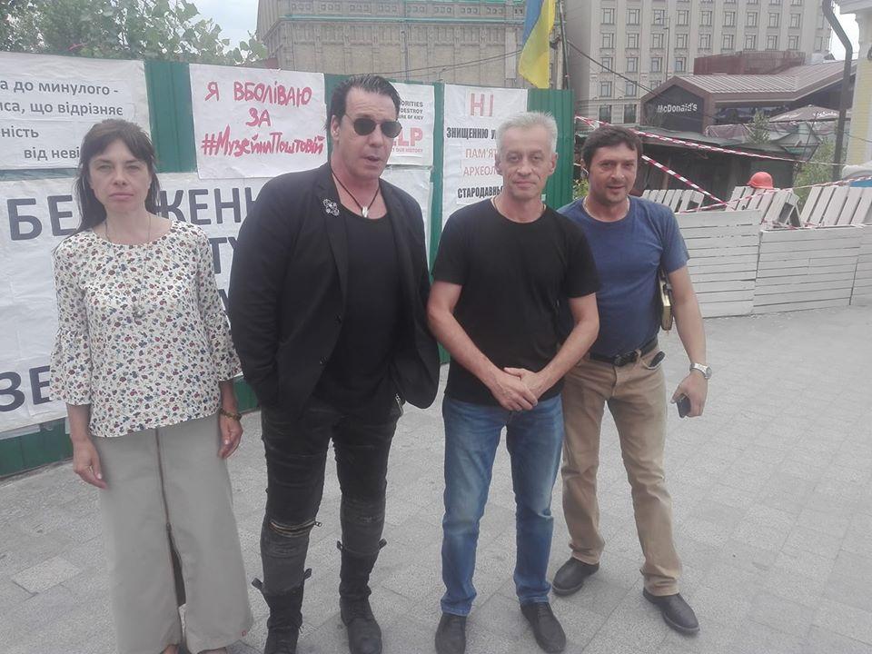 Фронтмена гурту Rammstein Тилля Ліндеманна помітили в центрі Києва