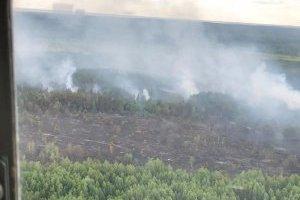 Рятувальники розповіли подробиці гасіння пожежі в Чорнобильській зоні