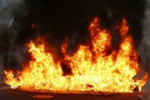 In Kyjiw hohe Brandgefahr gemeldet