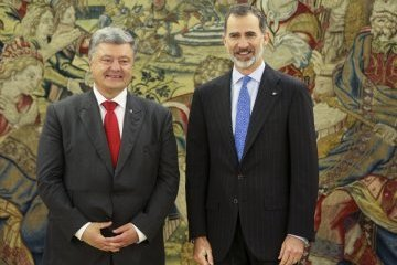Poroshenko meets with King Felipe VI of Spain