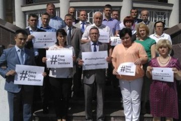 Ukrainian Embassy in Moldova holds rally in support of Sentsov and other prisoners of Kremlin