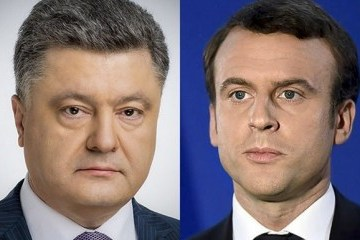 Poroshenko calls on Macron to increase pressure on Russia