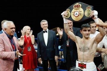 Boxer Artem Dalakian defends his WBA world title in Kyiv
