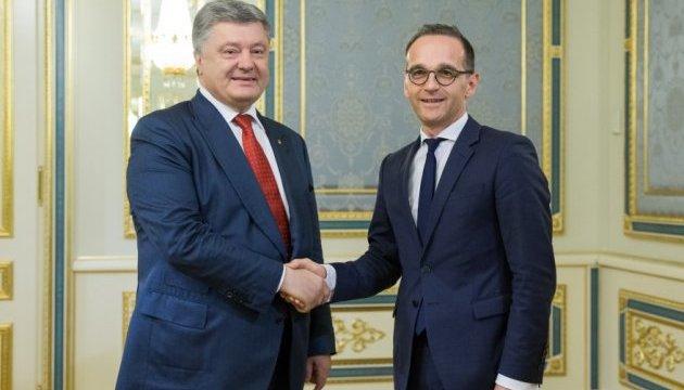 El presidente de Ucrania se reunió con el ministro de Exteriores de Alemania