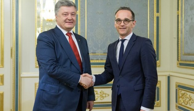 Poroshenko, Maas stress importance of deployment of UN mission in Donbas as soon as possible