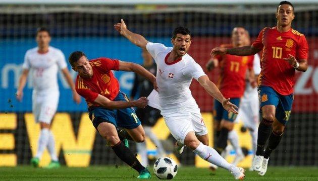 Футбол: Іспанія не змогла обіграти Швейцарію у контрольному матчі