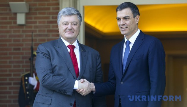 Spain supports Kyiv's position on peacekeeping mission in Donbas – Poroshenko