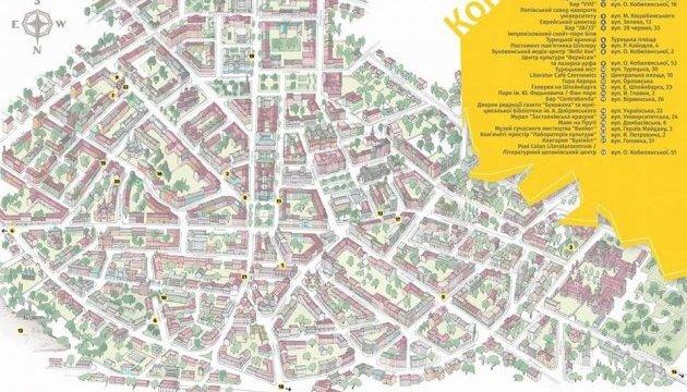 Мапу з незвичайними туристичними місцями створили в Чернівцях