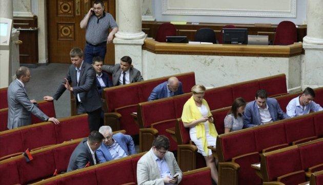 Антикорупційний суд: Рада не підтримала жодної поправки і пішла на перерву