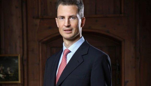 Alois von und zu Liechtenstein besucht die Ukraine