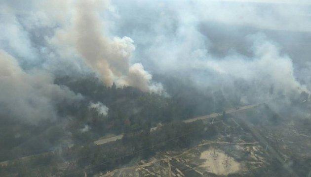 У Чорнобильській зоні горить 10 гектарів лісу