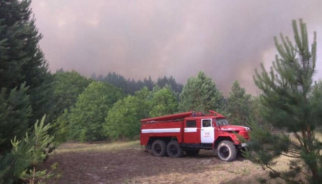 Для гасіння пожежі в Чорнобильській зоні скинули майже 100 тонн води - ДСНС