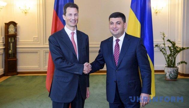 Ucrania y Liechtenstein dispuestos a fortalecer la cooperación económico-comercial