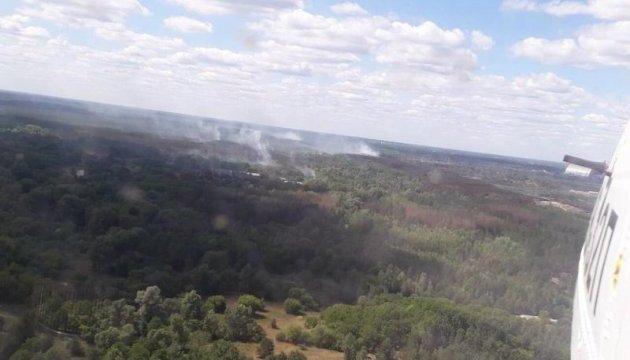 Площа пожежі під Чорнобилем зменшилася до 0,8 гектара