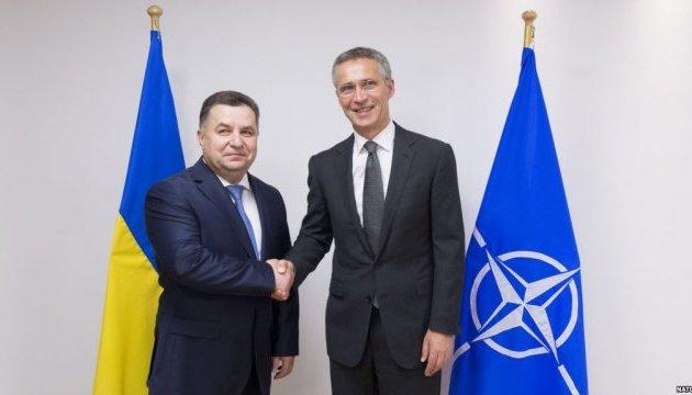 Poltorak begins visit to NATO Headquarters in Brussels