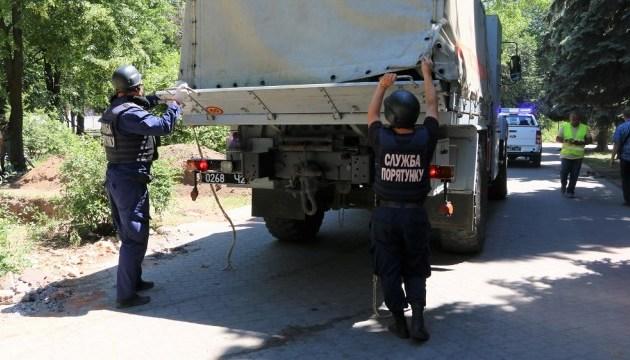 В Мариуполе во время ремонта площади нашли артснаряд