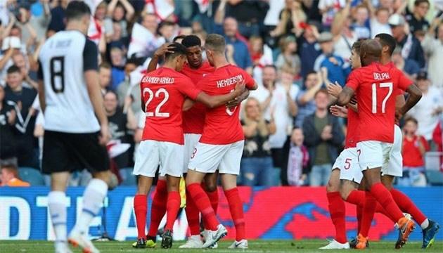 Англия выиграла последний контрольный матч перед ЧМ-2018 по футболу