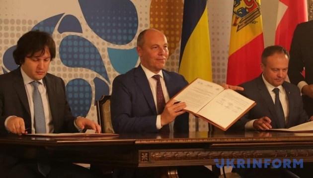Украина, Грузия и Молдова подписали заявление о Межпарламентской ассамблее