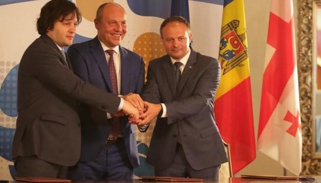 Ucrania, Georgia y Moldavia firman una declaración sobre la Asamblea Interparlamentaria (Foto)