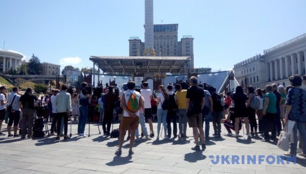 Action in support of Oleg Sentsov held in Kyiv. Photos