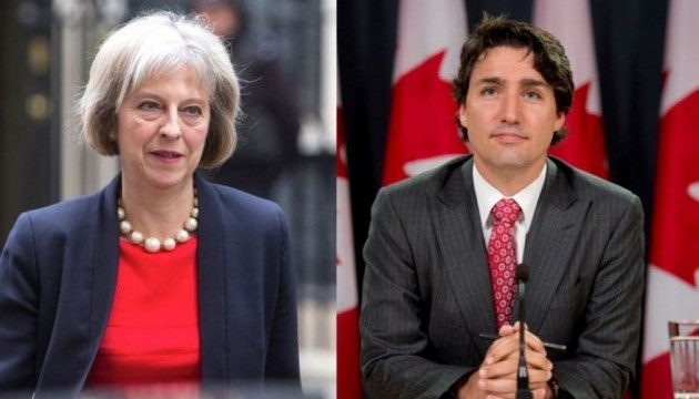 G7-Gipfel: Trudeau und May sprechen über die Ukraine