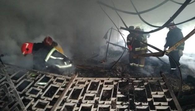 У Львові загорілися будівлі спорткомплексу Міноборони