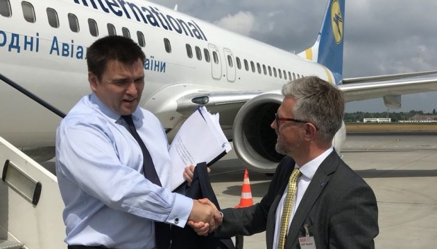 Klimkin arrives in Berlin to attend 'Normandy' ministerial meeting