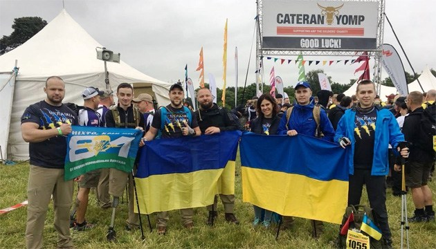 """Українці вибороли """"золото"""" у марш-кидку поранених ветеранів у Великій Британії"""