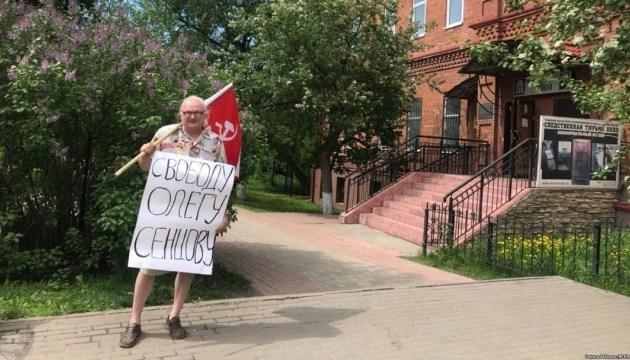 Une manifestation solitaire en soutien à Oleg Sentsov a eu lieu en Sibérie