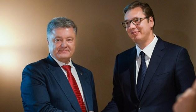 Poroschenko besucht am Dienstag Serbien