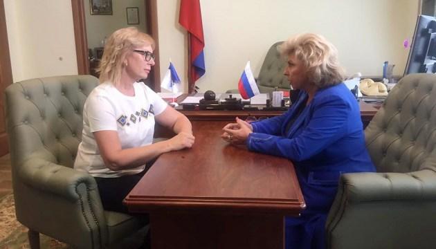 Денісова вимагає від РФ негайно надати їй доступ до політв'язнів
