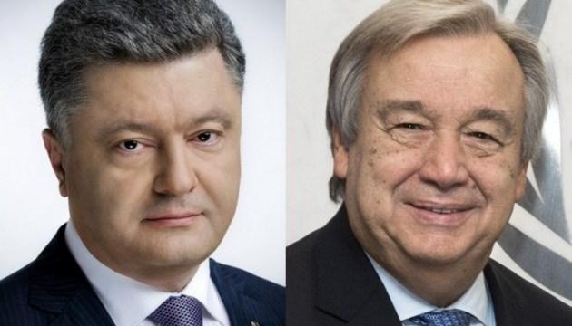 Poroshenko had phone conversation with UN Secretary-General